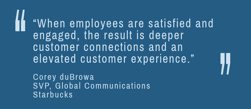 Engaged and Satisfied Employees Lead to Better Customer Experiences quote