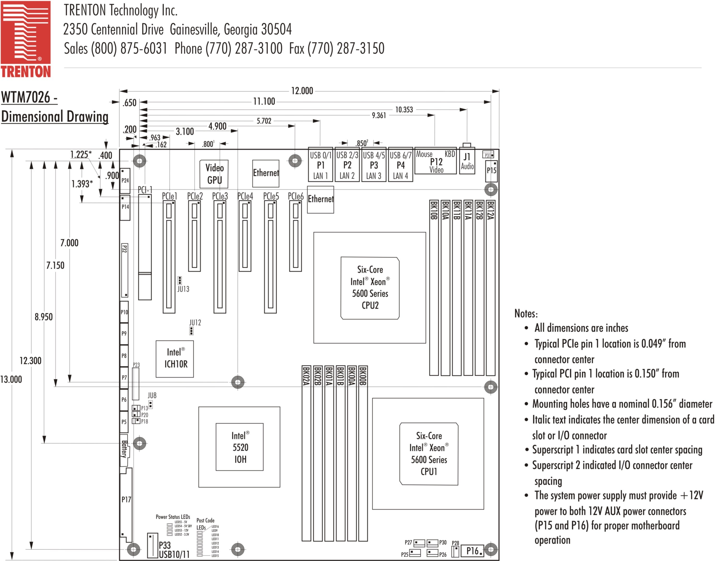 Tech Specs Downloads Wtm7026 Motherboard Diagram In Detail Layout Dimension I O Plate Drawing