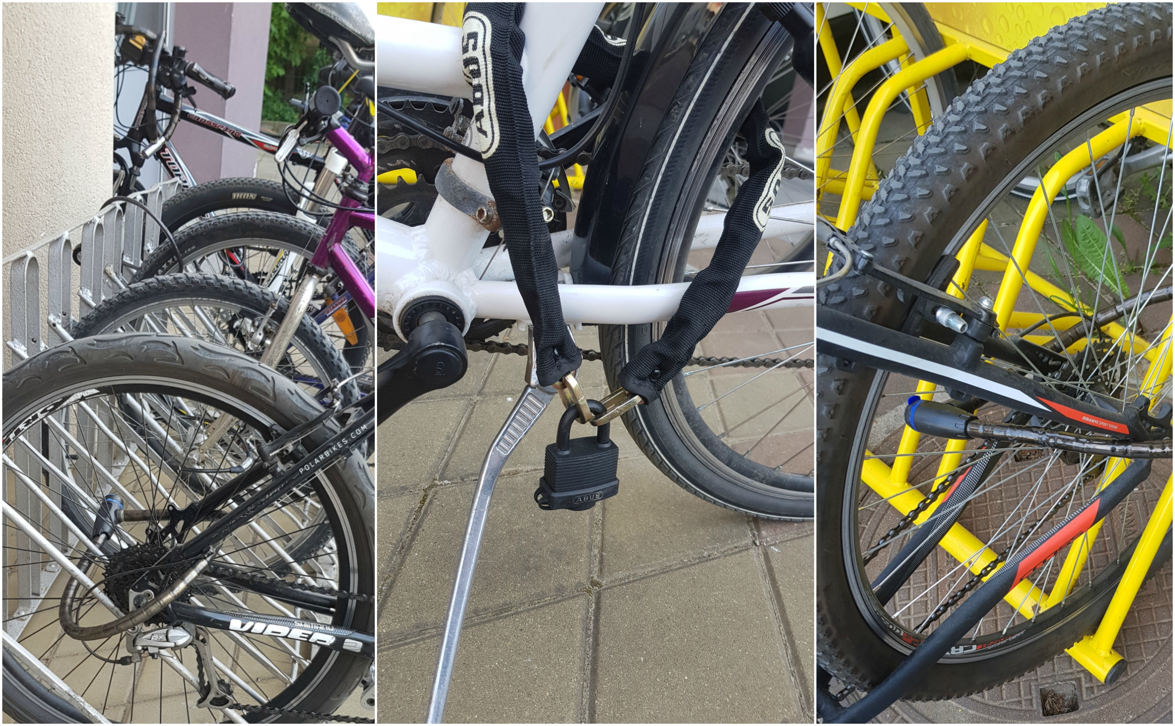 Bike locks - one of the ways of keeping an unattended bicycle safe; blog by CLARA Swiss Tech