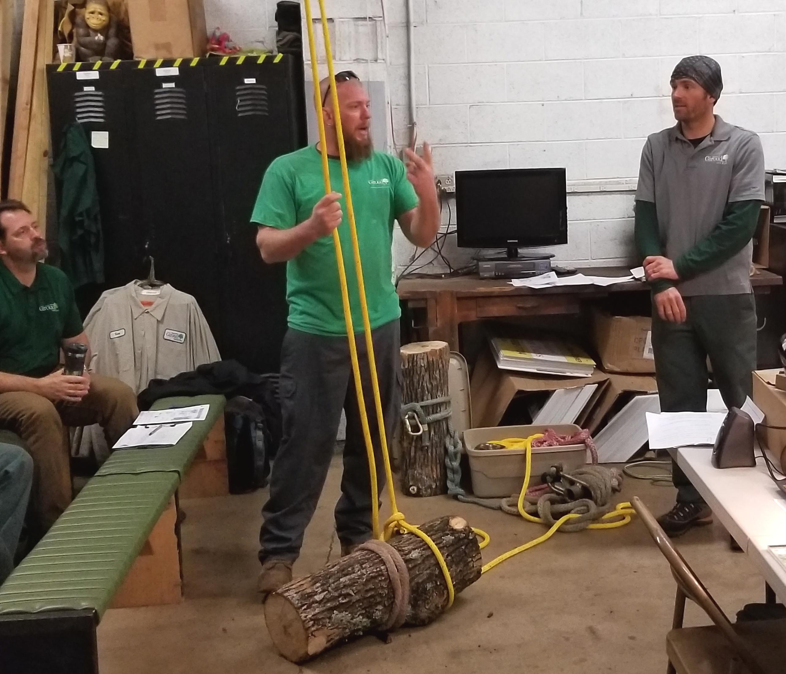 Giroud Winter Training Proper Tree Rigging Forces