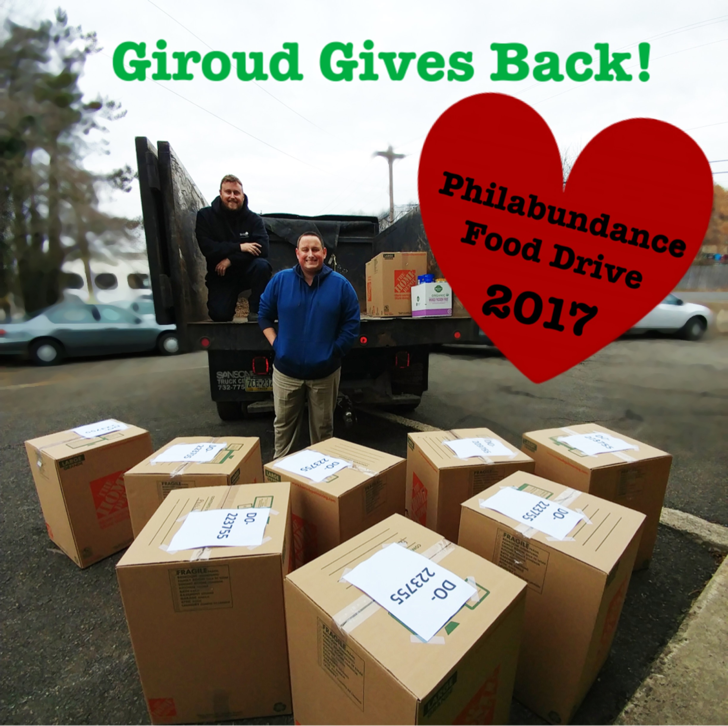 Giroud Gives Back to Philabundance Matt & Jeff Giroud Deliver