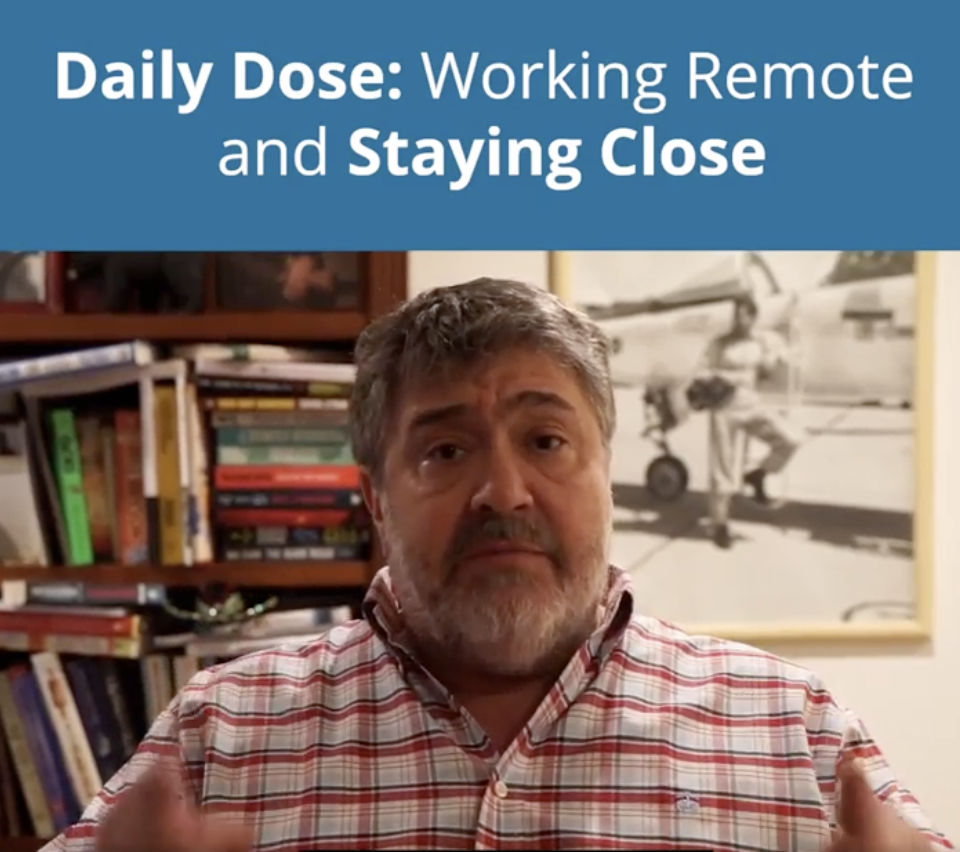 Remote and staying close