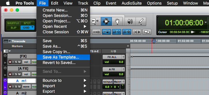 How To Create Pro Tools Session Templates For Sound Effects Editing