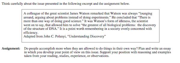 examples of sat essay questions