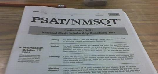 SAT practice scores/PSAT questions?