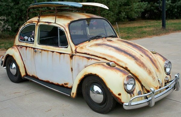 Photo courtesy of Pinterest showing painted rust on a vehicle. 12-Point SignWorks - Franklin, TN