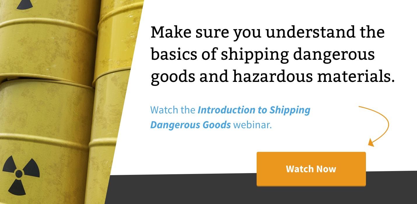 Creating the IATA Dangerous Goods Form: The Shipper's