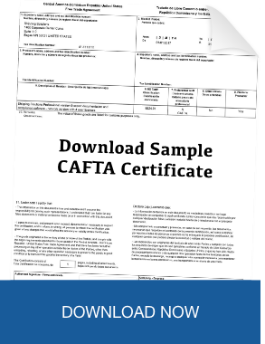 Cafta dr how to declare that a good is originating download sample cafta dr certificate of origin yadclub Image collections