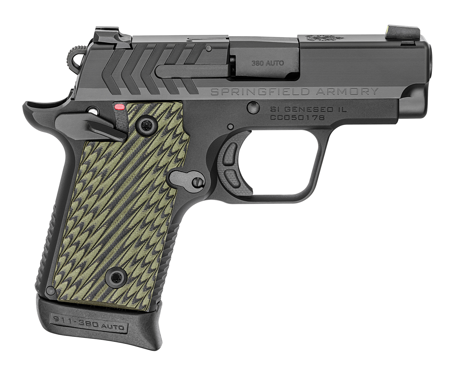 Springfield 911 with G10 Grips and Black Nitride finish
