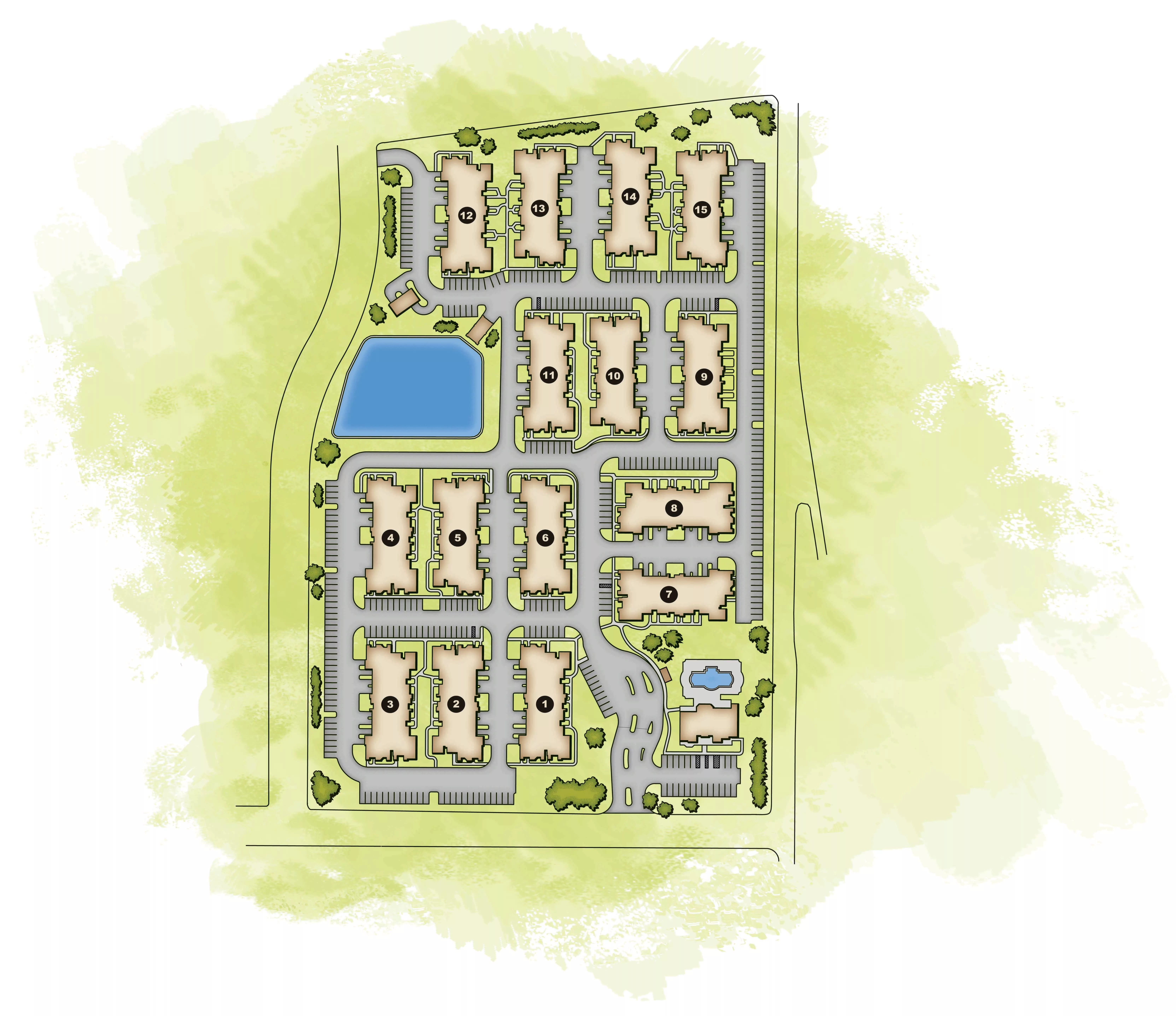 Studio, 1, 2 & 3 Bedroom Townhome Style Apartments In Live