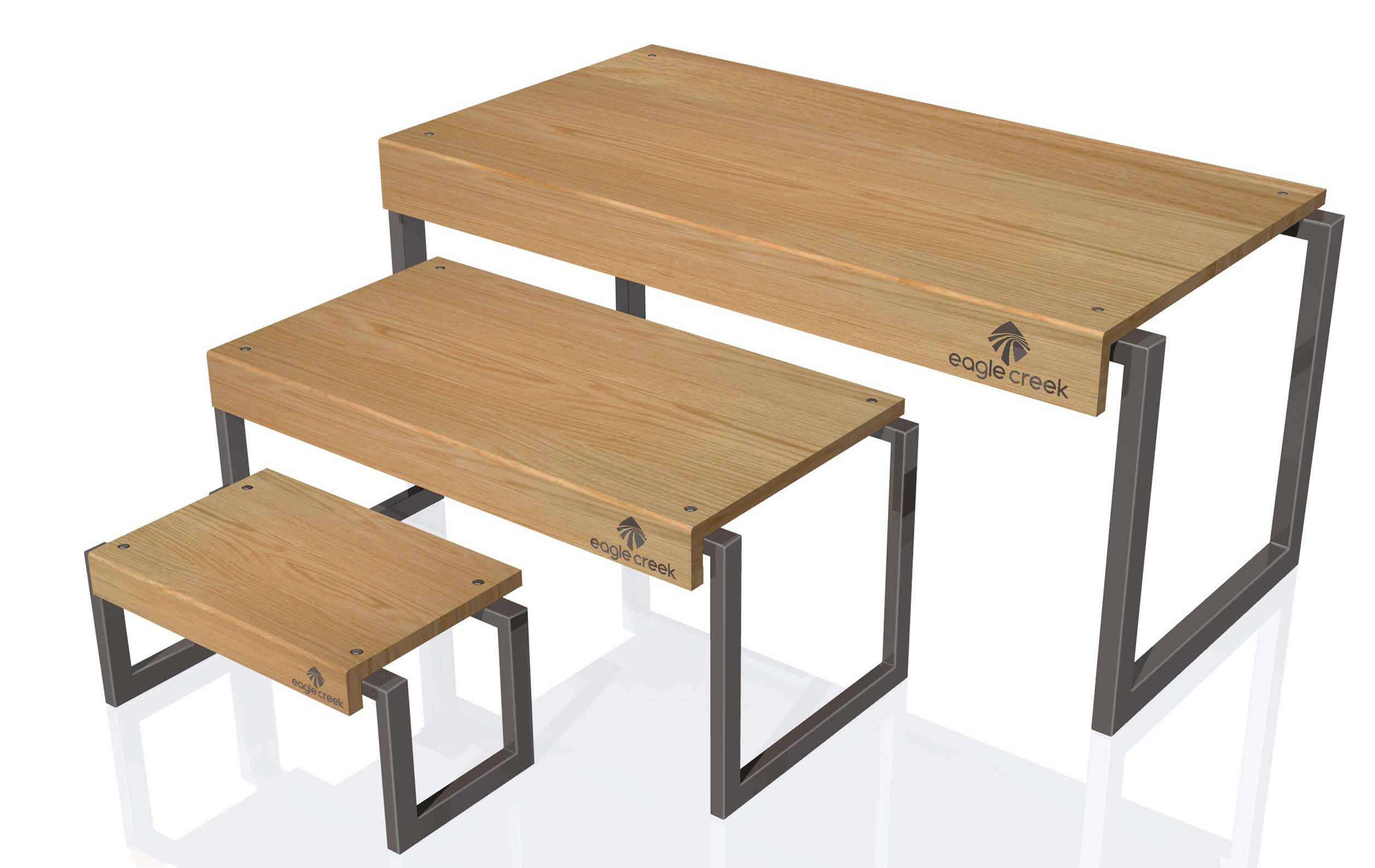 Finally, We Manufactured The Nesting Tables Shown Below For Toys R Us. The  Tall Center Table Was Constructed Of MDF With A Maple Laminate Finish.