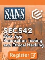 SANS SEC542 Class