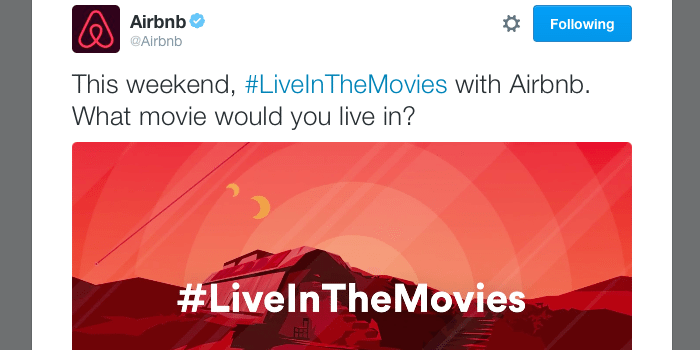 Interview] How Airbnb's #LiveintheMovies Twitter Campaign