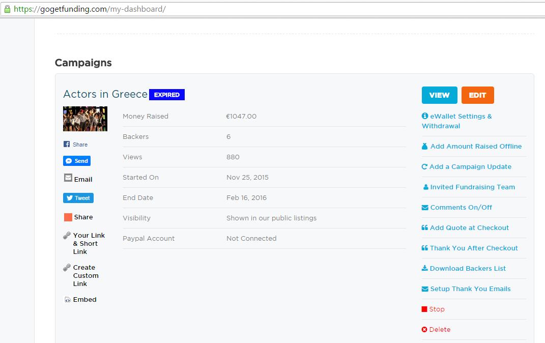 crowdscam- a fake crowdfunding campaign