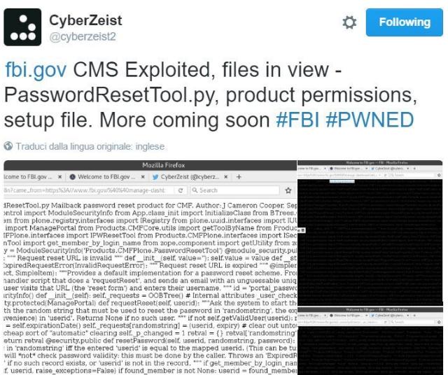 CyberZeist twitter account