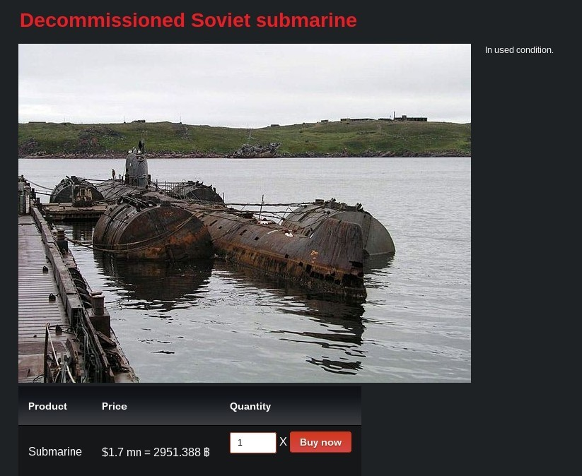 Submarine for sale