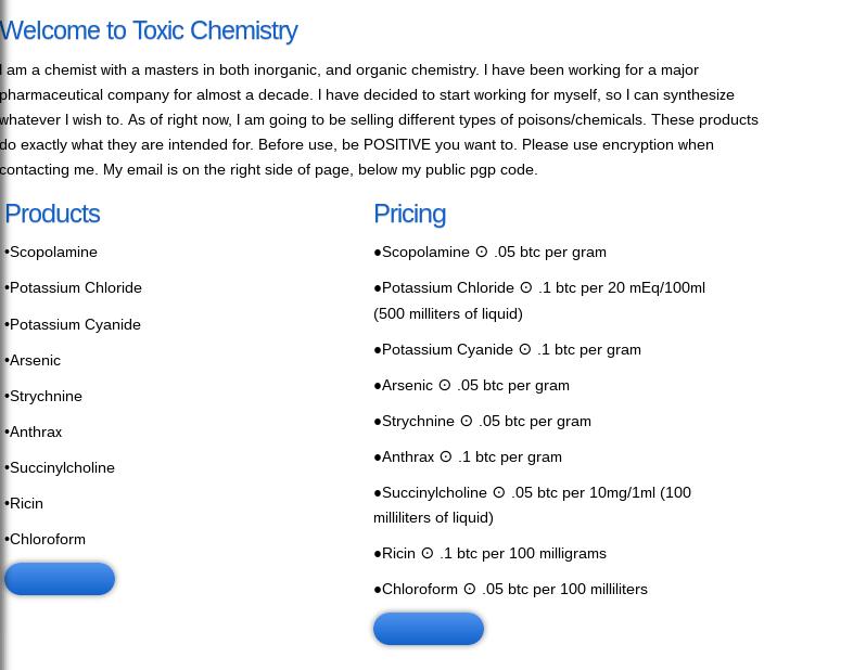 toxic-cehmistry on Darknet