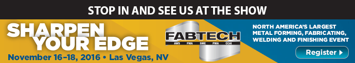 Sharpen Your Edge - Fabtech - November 16-18 - Las Vegas