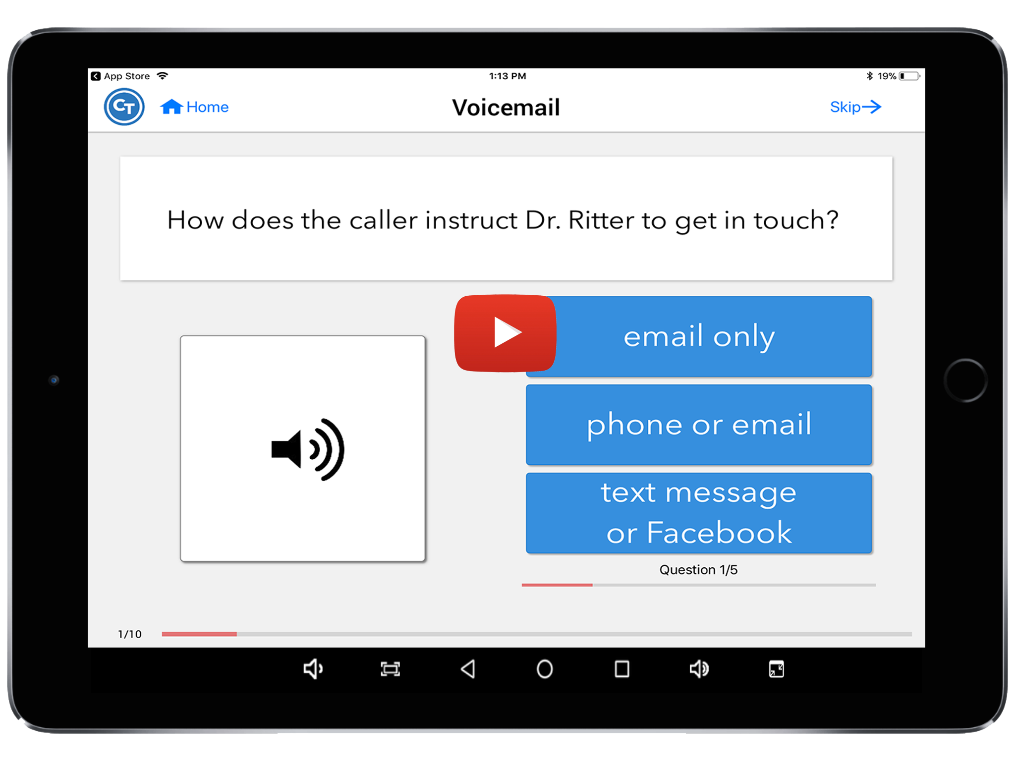 voicemail task