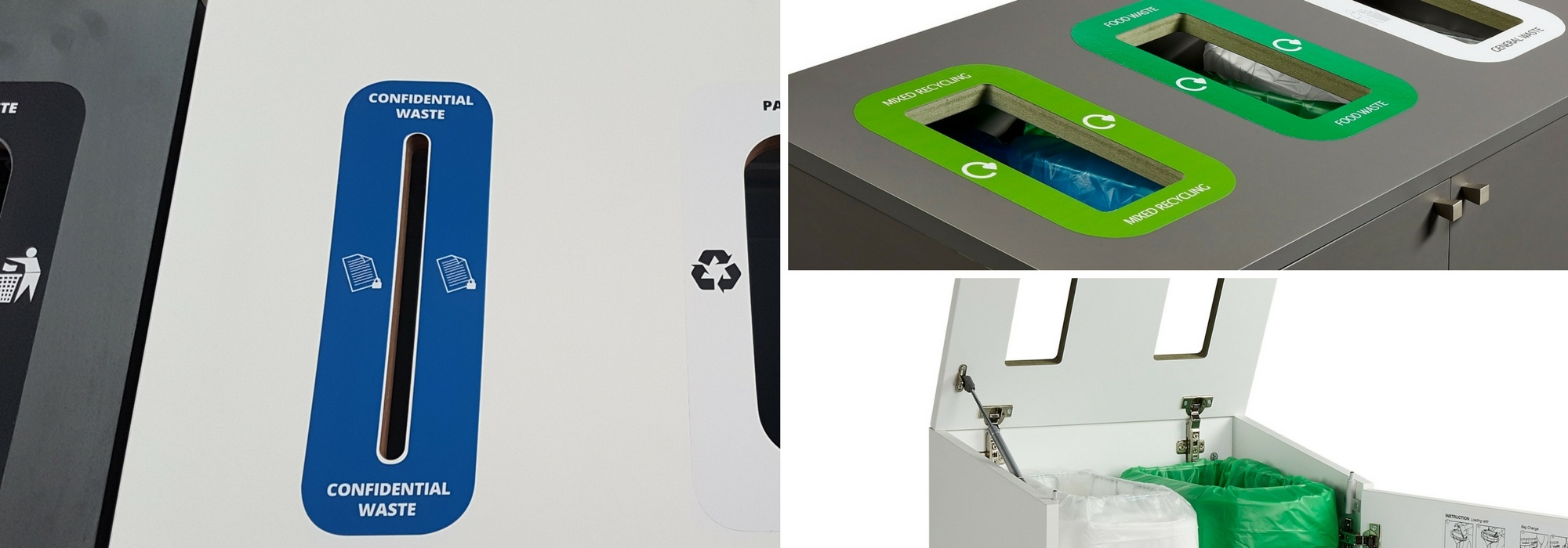 GDPR compliant bespoke recycling station for paper waste