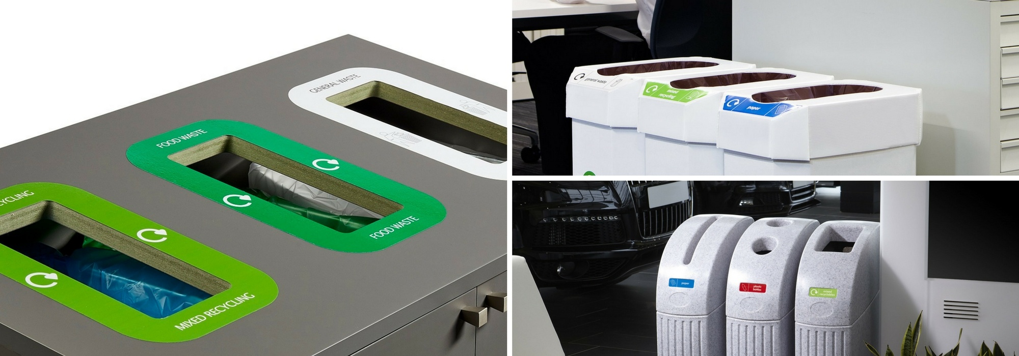Off the shelf recycling stations and solutions