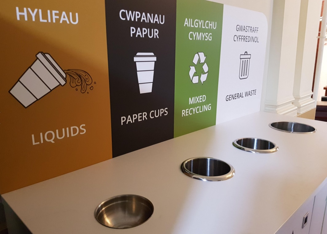 Indoor Office Recycling Bin Stations