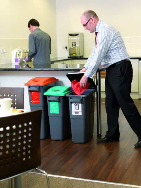 Colourful Recycling Bins for Offices