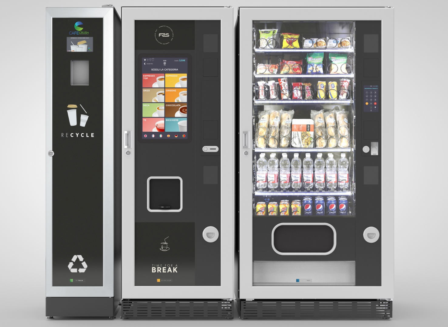 CafeCrush bottle deposit return machine