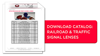 Traffic, railroad and signal glass lenses