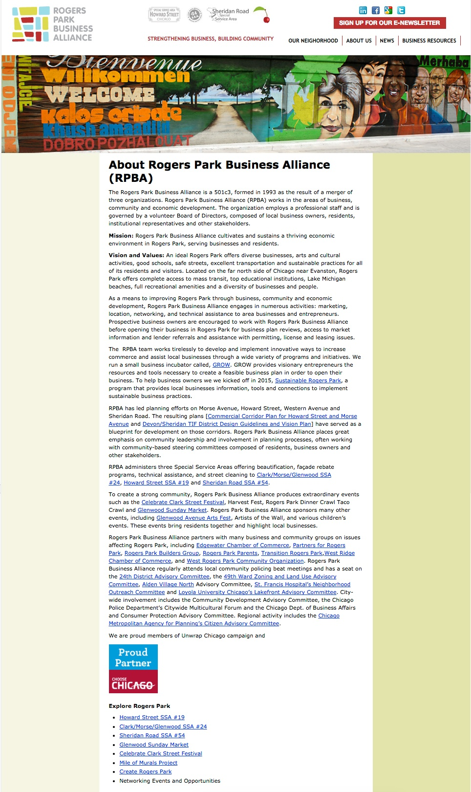 Previous RPBA About Us Page
