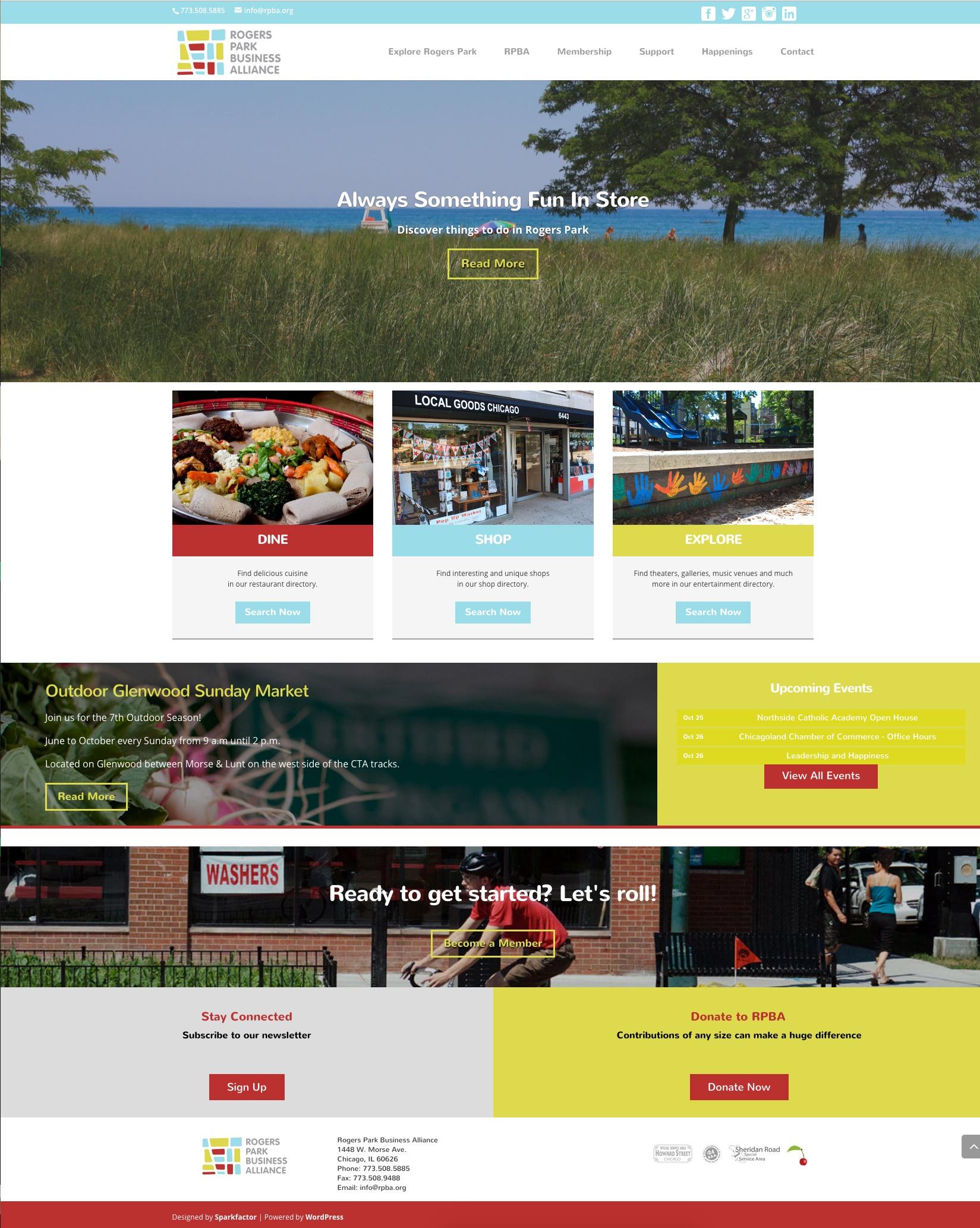 New RPBA Homepage