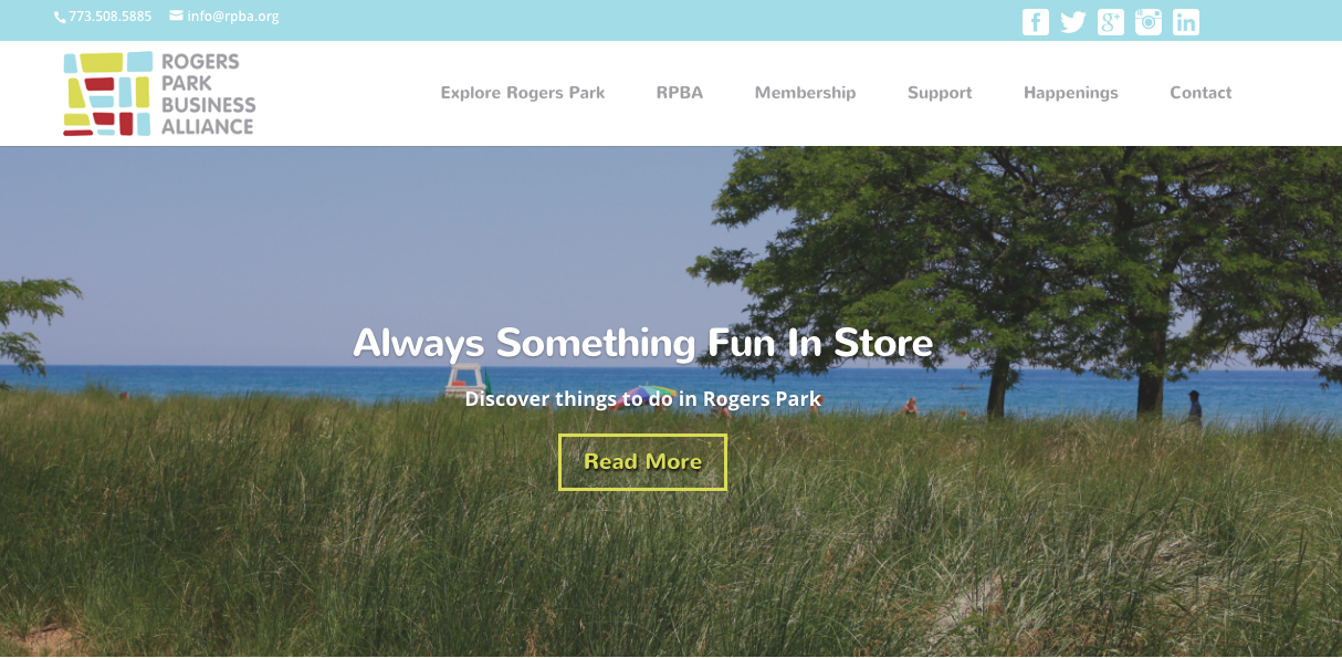 Rogers Park Business Alliance homepage