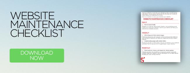 Website Maintenance Checklist   Download now