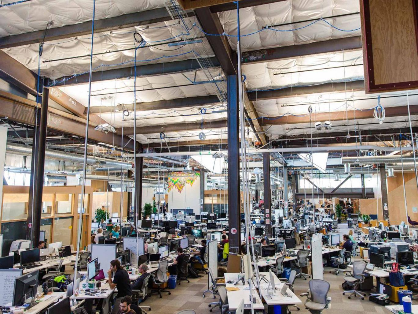 The New Headquarters Of Facebook, Located In Menlo Park, CA.