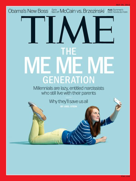 Time Magazine - Millennials. Photograph by Andrew B. Myers
