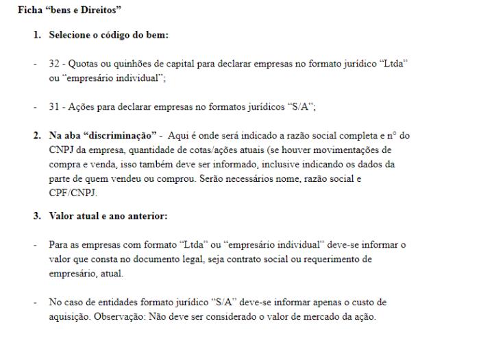 Declaração de imposto de renda para empresas