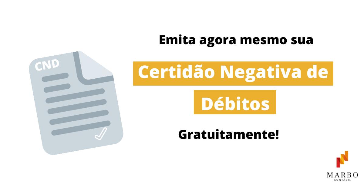 Consulta CND 2020 GRÁTIS