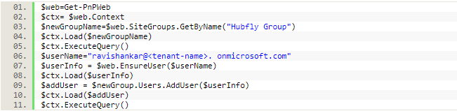 Add User to SharePoint Group