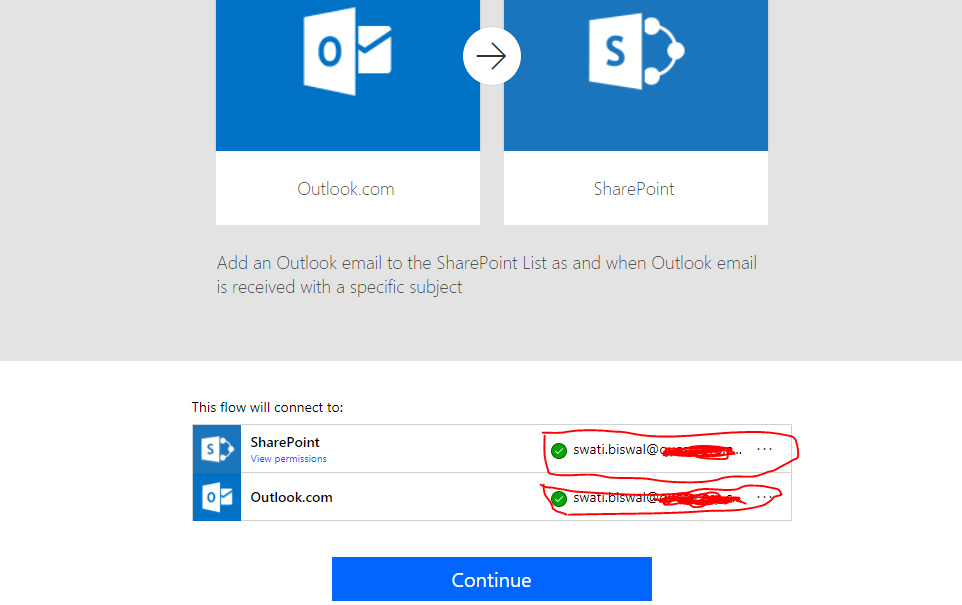 Connect the flow with your O365.png