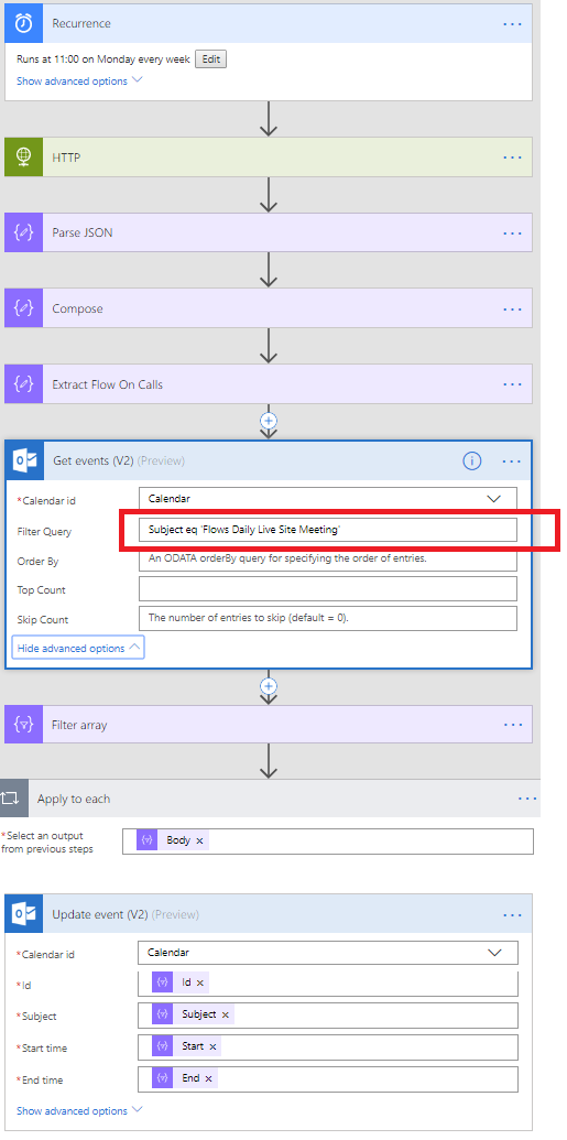 Meeting Automation with Microsoft Flow