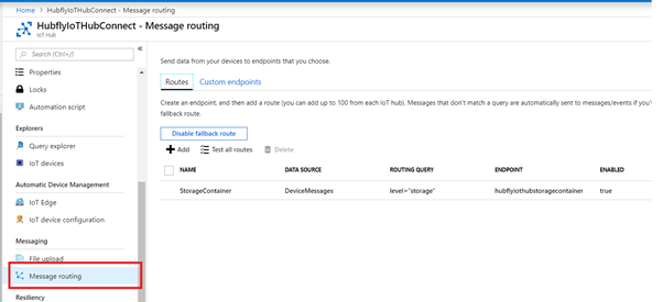 Message Routing In Message Routing Pane