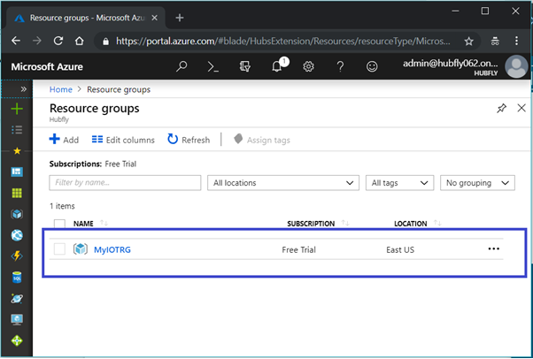 Azure New Resource Group