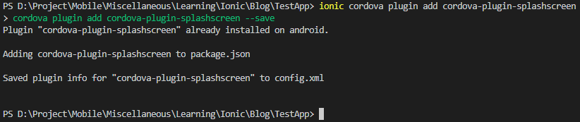 ionic-native splash