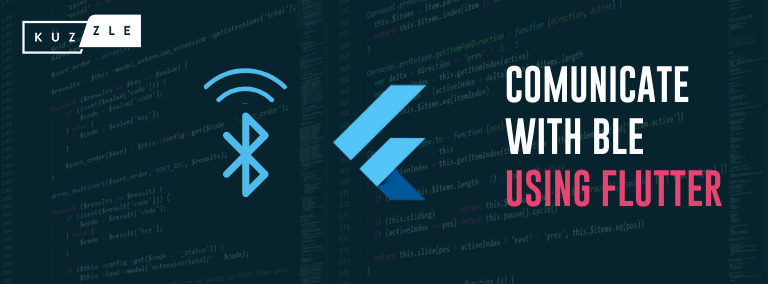 How to communicate through BLE using flutter