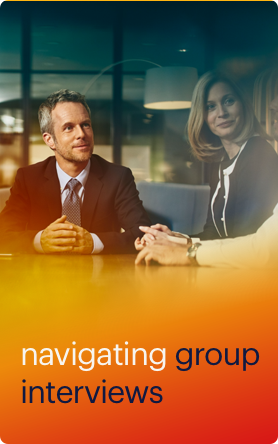 navigating group interviews button