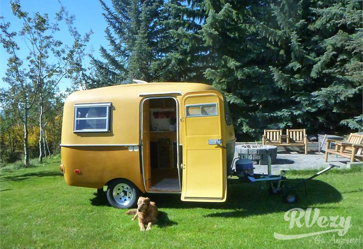 vintage boler trailer for rent