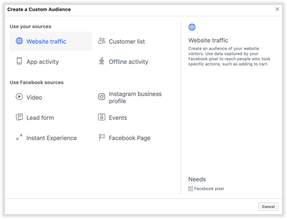 Facebook's custom audiences