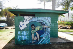 Tribute to Andy Irons at the Pine Trees facilities.