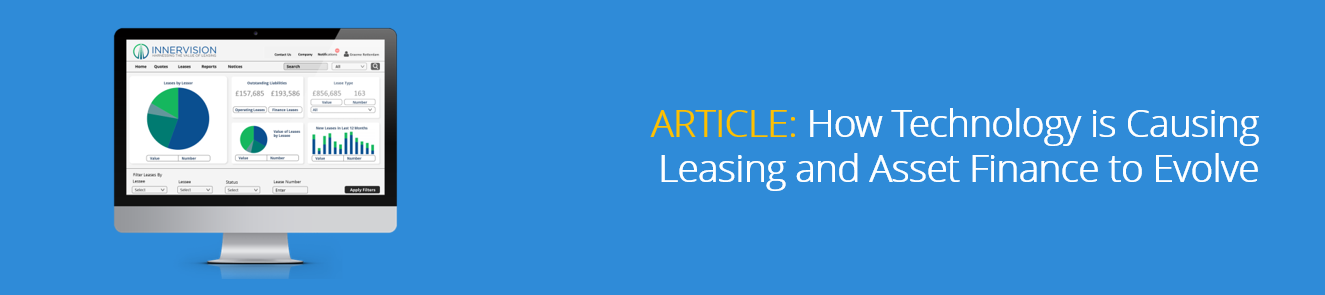 How Technology is Causing Leasing and Asset Finance to Evolve