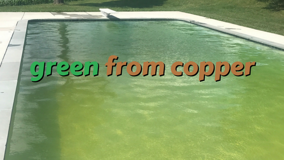 Pool Turned Green From Copper And A Chlorine Shock